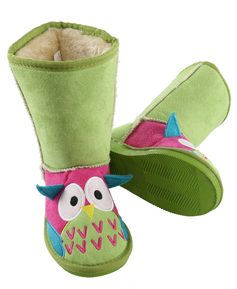 Kids Owl Toasty Toez Slipper Boots | Lazy One®